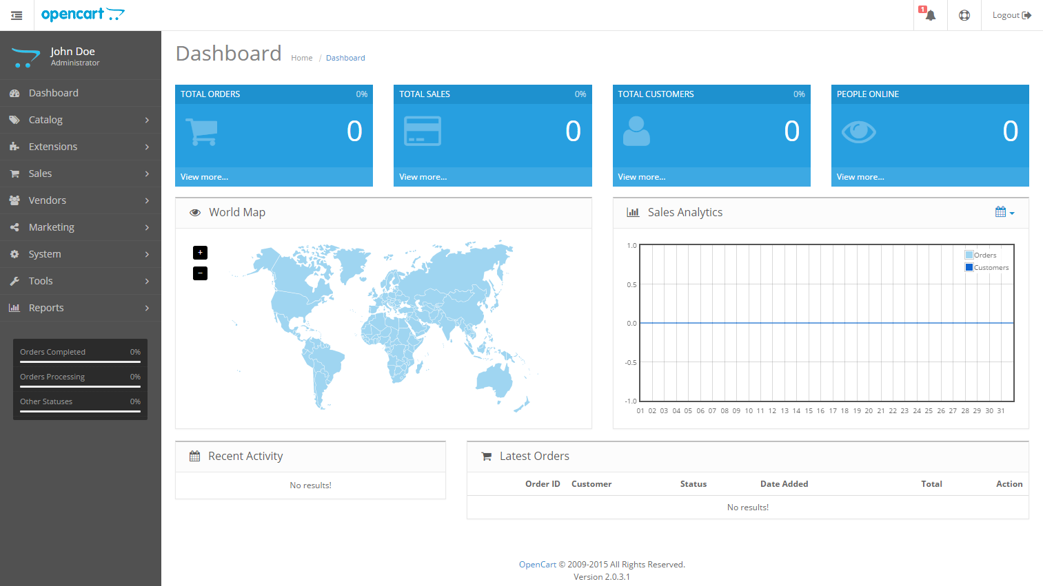 Admin Interface - OpenCart Documentation