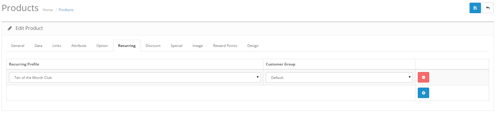Applying Profile to Product